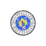 Montpellier city stamp Stock Photos