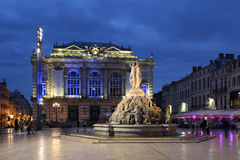 Montpellier França Lugar de la Comedie foto de stock royalty free