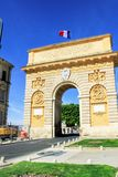 Triumphal Arch of Montpellier. MONTPELLIER, FRANCE – MAY 27, 2014: Triumphal Arch on May 27, 2014 in Montpellier, France. Triumphal Arch dedicated to stock images