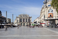 Montpellier. FRANCE - AUGUST 14: Arc de Triomphe de  on on august 14, 2013 in Stock Photos