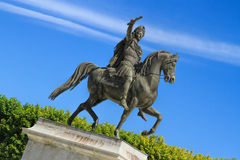 Montpellier, France. Statue of Louis XIV on horseback in the Garden of Peyrou, Montpellier, France royalty free stock photography