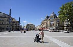 Montpellier, Francia - Place de la Comedie Foto de archivo
