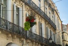 Montpellier (Frankrike): gamla byggnader Fotografering för Bildbyråer