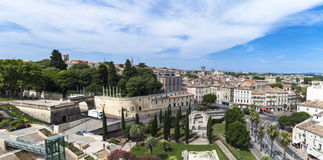 Montpellier. Panoramic view at city of Montpellier, France stock photos