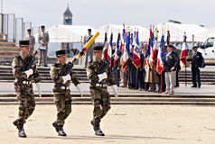 MONTPELLIER: parade in honor of Victory in Europe Stock Image