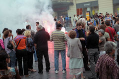 MONTPELLIER, SEPTEMBER 23 - PUBLIC DEMONSTRATION Royalty Free Stock Photography