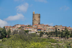 Montpeyroux,法国村庄  库存图片
