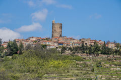 Montpeyroux,法国村庄  免版税库存图片