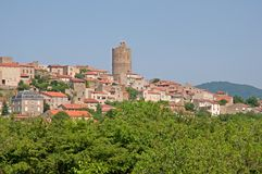 Montpeyroux, France. Old town Montpeyroux in Central Massif, Auvergne, France Stock Images
