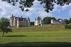 Montpoupon Chateau panorama. Panorama of Chateau de Montpoupon, Loire Valley, France Stock Photos