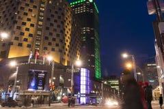 Montréal alla notte Fotografia Stock Libera da Diritti