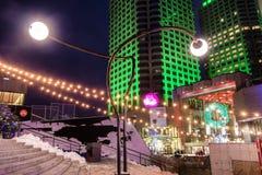 Montréal Luminotherapy夜场面 图库摄影