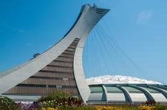 MONTRÉAL, CANADA - 28 JUILLET : Montréal le Stade Olympique et towe Images stock