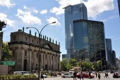 Montréal du centre avec la cathédrale Photos stock