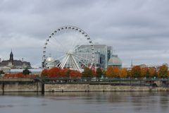 Montréal Ferris Wheel images stock