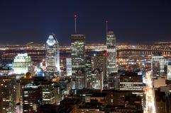 Montréal la nuit Images libres de droits