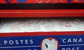 Montréal, Québec, Canada - 20 juillet 2016 : Détails postaux de boîte dans t images stock