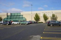 Montra de Macy na alameda de Danbury, Connecticut imagens de stock