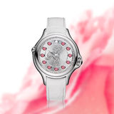 Montre blanche de diamant Images stock