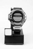 Montre-bracelet d'acier inoxydable Photographie stock libre de droits