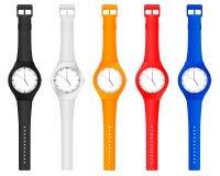 Montre-bracelet de couleur Photo stock