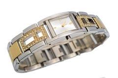 Montre-bracelet de luxe de dames Images stock