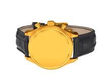 Montre-bracelet de luxe de l'or des hommes photos stock