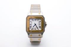 Montre-bracelet de luxe sur le fond blanc photographie stock libre de droits
