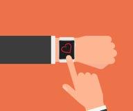 Montre-bracelet intelligente Images stock