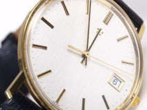 Montre d'or Photos libres de droits