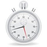 Montre d'horloge de vecteur métallique sur le fond blanc Photographie stock libre de droits