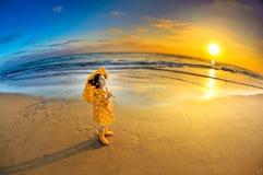 montre de coucher du soleil image stock