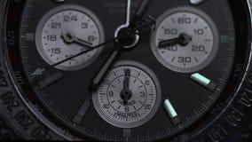 Montre de luxe, plan rapproché de chronographe Macro de montre Détail d'une montre de luxe Macro de détail de chronographe photographie stock libre de droits