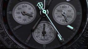 Montre de luxe, plan rapproché de chronographe Macro de montre Détail d'une montre de luxe Macro de détail de chronographe photos libres de droits