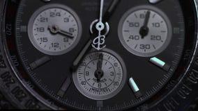 Montre de luxe, plan rapproché de chronographe Macro de montre Détail d'une montre de luxe Macro de détail de chronographe photographie stock