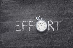 Montre de mot d'effort image stock