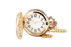montre de poche d'or Images libres de droits