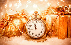 Montre de poche de Noël Photos stock