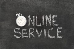 Montre de service en ligne Image libre de droits