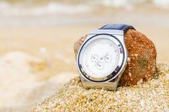 Montre en sable photographie stock libre de droits