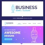 Montre intelligente de belle d'affaires marque de concept, smartwatch, W illustration libre de droits