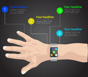 Montre intelligente infographic illustration stock