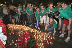 Montre patriotique de mémoire d'action de la jeunesse Images libres de droits