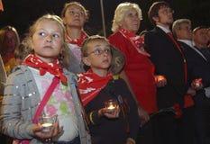 Montre patriotique de mémoire d'action de la jeunesse Photos stock