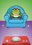 Montre TV de grenouille Image libre de droits