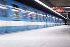Montreal's Metro (Subway) 2. This image shows a series of subway cars and was taken in Montreal, Canada Royalty Free Stock Photography