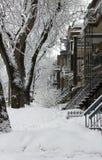 Montreal śnieżna burza zdjęcie royalty free