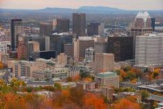 Montreal śródmieście podczas spadku fotografia stock