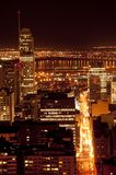 Montreal. Downtown Montreal at night.  View from the Mont Royal Royalty Free Stock Images