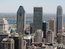 Montreal. A view of downtown Montreal from Mount Royal Royalty Free Stock Images